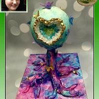 Acts of Green Watercolor Geode