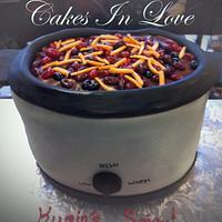 Chili Cook off Crockpot Cake