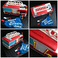 Lego city fire truck by Trickycakes