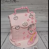 The pink satchel