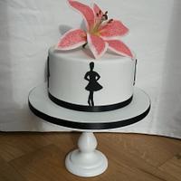 Irish dancing silhouettes & lily