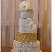 Ruffled with Gold Wedding