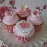 Pink and Girly Cupcakes for a very special 90th Birthday  by muffintops