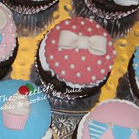 Girly-girl cupcakes by Julie Tenlen