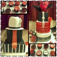 1920s style 30th birthday cake