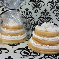 Wedding Cake Cookie Favor by SugarMommas Custom Cakes