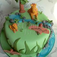 Hannah's giraffe cake