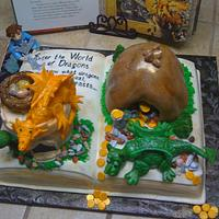 World of Dragond book cake
