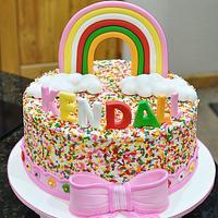 Sprinkles, bow and rainbow