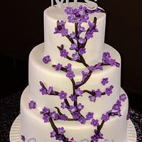 Jacaranda Wedding Cake