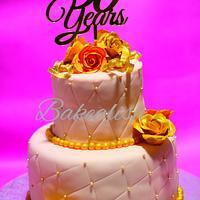 Golden Jubilee 2 Tier Cake