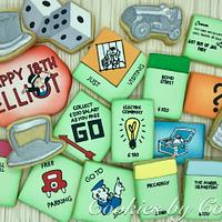 Monopoly Birthday Cookies