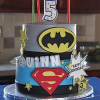 5th Birthday Superhero Cake
