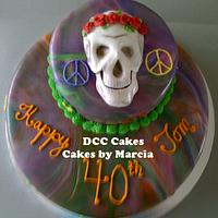 Grateful Dead Male Birthday Cake