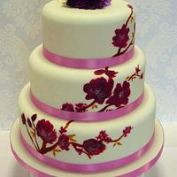 Hand painted blossom cake by Simon Northcott