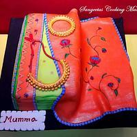 Paithani Saree cake
