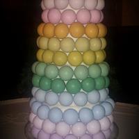 Rainbow Cake Bite Cake