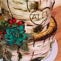 Birch wood cake