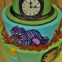 Alice In Wonderland tiered ALL Buttercream by Nancys Fancys Cakes & Catering (Nancy Goolsby)