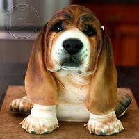 Basset Hound Puppy Cake