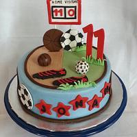 Soccer/Basketball cake