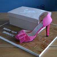 Louboutin Shoe Box Cake and Shoe