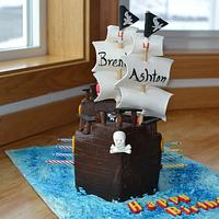 Arrrgh! Pirate Ship Birthday Cake
