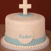 1st communion cake & cupcakes