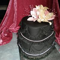 Black 2 tier heart