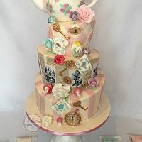 Wonderland wedding cake