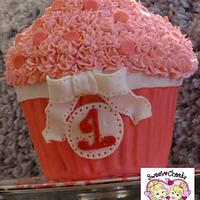 First Birthday Smash Cake - Giant Cupcake