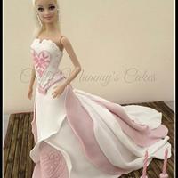 Barbie Dress Cake by CraftyMummysCakes (Tracy-Anne)