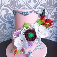 #worldcancer day collaboration Sugar flowers & Cakes in bloom