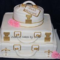 Suitcase Wedding by Creative Cakes by Chris