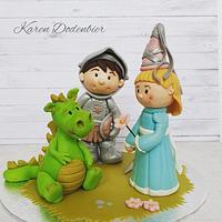 Knight, princess and dragon