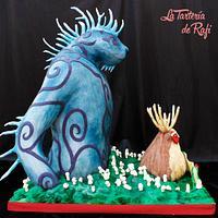 Princess Mononoke: Nightwalker/Spirit of the forest (Studio ghibli cake collaboration)