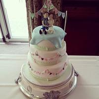 summer fete wedding cake