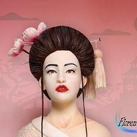Japanese fashion / Geisha - Couture Cakers Collaboration