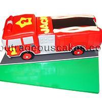 3d fire truck cake