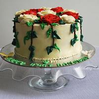 The garden Theme cake