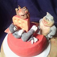 Tom and Jerry Cake Bomb
