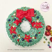Christmas Wreath Cake 🎄🎁🎊