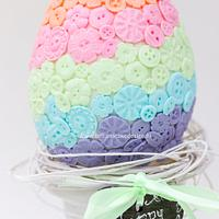Pastel buttons Easter egg cake