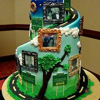 """Road of Life"" 80th Birthday Cake"