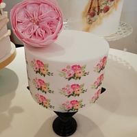 Minicake con rosa Inglesa