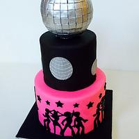 Disco Ball and Dancers cake
