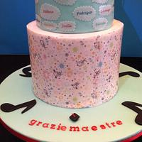 Sing Me A Happy Song Grad Cake by Sweet Rocket Queen (Simona Stabile)