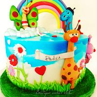 Baby tv themed cake