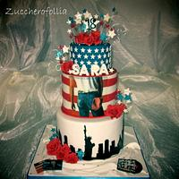 Born in the usa cake