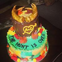 Buck Horns groom cake